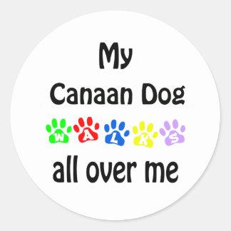 Den Kanaan hunden går design Runt Klistermärke