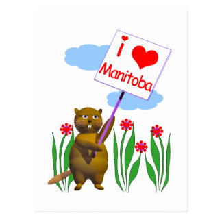 Den kanadensiska bäver älskar Manitoba Vykort