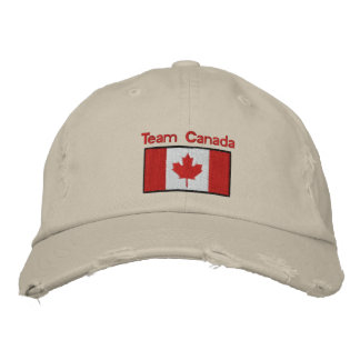 Den kanadensiska flagga broderade hatten kepa