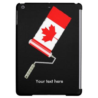 Den kanadensiska flagga målar rullen