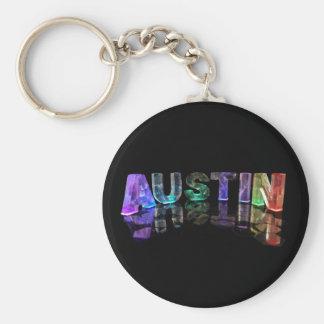 Den kända Austinen i ljus 3D Rund Nyckelring