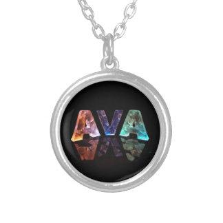 Den kända Avaen i ljus 3D Halsband Med Rund Hängsmycke