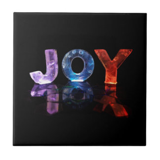 Den kända glädjen i 3D tänder (fotografera), Kakelplatta