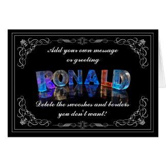 Den kända Ronalden i 3D tänder (fotografera), Hälsningskort