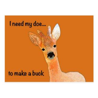 Den kära hjortprodukten fodrar vykort