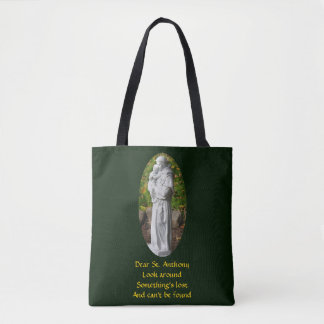 Den kära St Anthony looken runt om katolsk toto Tygkasse