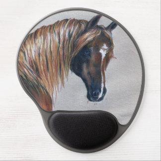 Den kastanjebruna arabiska hästgelen vadderar gel musmatta