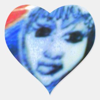 den kåta nunnan hjärtformat klistermärke