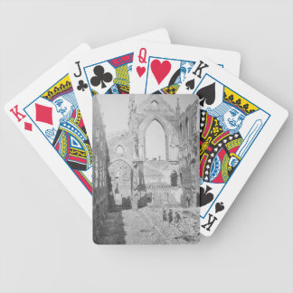 Den katolska domkyrkan fördärvar under spelkort
