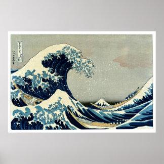 Den Katsushika Hokusais underbaren vinkar av Poster