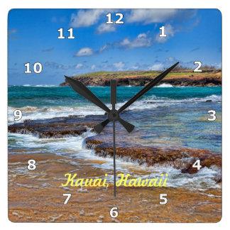 Den Kauai stranden tar tid på Fyrkantig Klocka