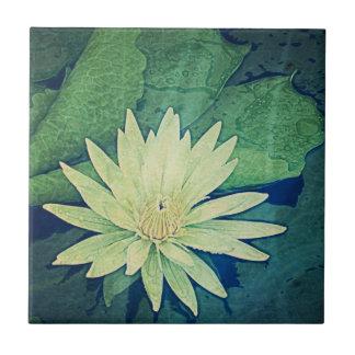 Den keramiska näckrosgröntblomman belägger med kakelplatta