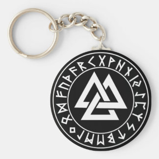 den keychainTri-Triangeln runan skyddar på Blk Rund Nyckelring