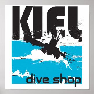Den Kiel dyken shoppar kanfas Poster