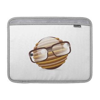 Den kloka grabben - Geeksmileyen med MacBook Air Sleeve