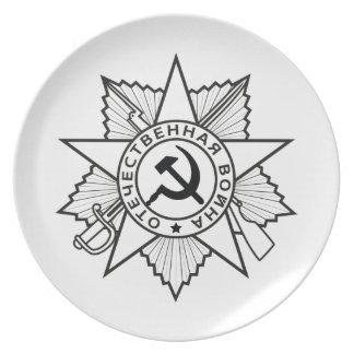 Den kommunistiska gradbeteckningen bultar och tallrik