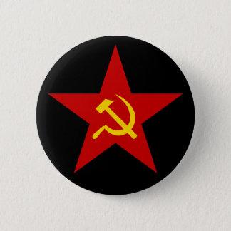 Den kommunistiska röda stjärnan (bulta & skäran), standard knapp rund 5.7 cm