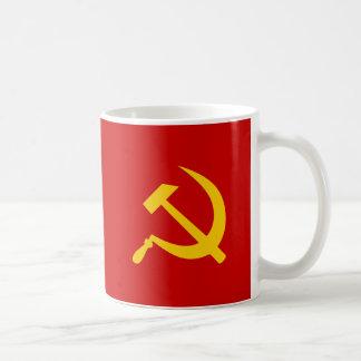 Den kommunistiska USSR ryssen bultar och skäran Kaffemugg