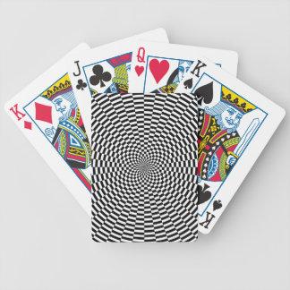 Den koncentriska bilder skiftade 9 grader som spelkort