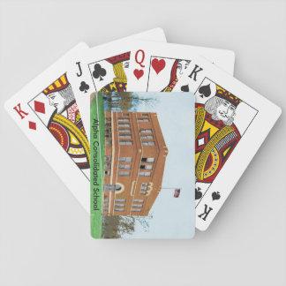 Den konsoliderade alfabetisken skolar att leka spel kort