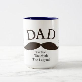 Den konstnärliga pappan illustrerade mustaschmugge