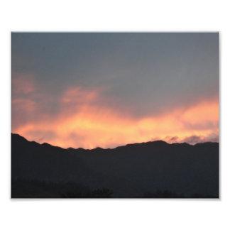 Den Koolau bergsolnedgången avfyrar trycket för Ha Fototryck