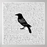 Den korpsvarta färdiga dikt av Edgar Allan Poe Poster