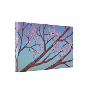 Den körsbärsröda blommar förgrena sig - naturkonst canvastryck