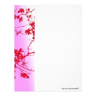 Den körsbärsröda rosan blomstrar brevhuvudet brevhuvud