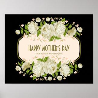 Den kräm- blom- lyckliga mors dag undertecknar poster