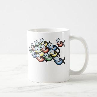 den kristna fisken formar kaffemugg