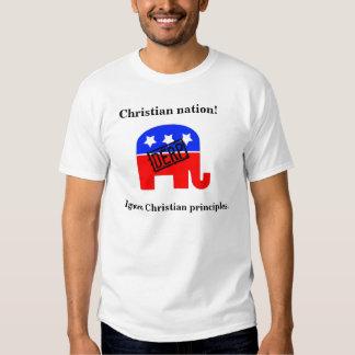 Den kristna nationen - ignorera kristna principer t shirt