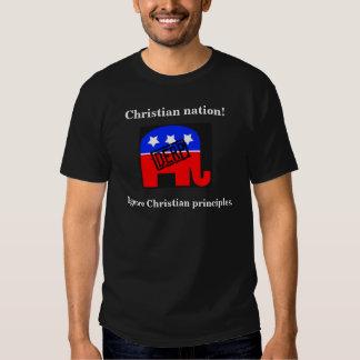 Den kristna nationen - ignorera kristna principer tröjor