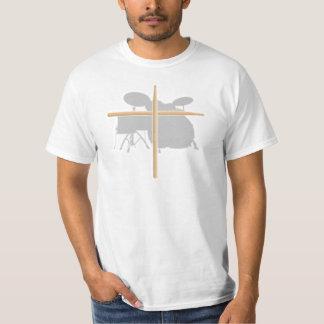 Den kristna stenhandelsresanden trummar t shirts