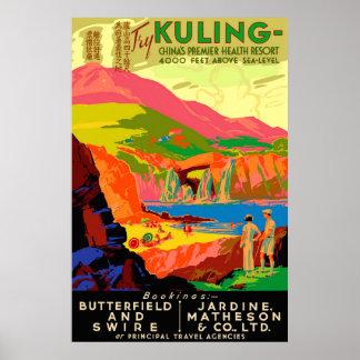 Den Kuling vintagekinesen reser affischen Poster