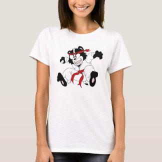 Den Kung Foo apan tjatar kvinna T-tröja T-shirt
