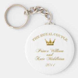Den kungliga förlovning-/gifta sigKeychainen Rund Nyckelring