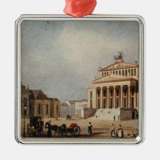 Den kungliga theatren och den nya kyrkan, 1833 julgransprydnad metall