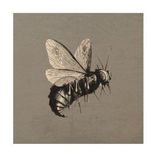 Den kusliga gotiska biskallen påskyndar insekten trätavla