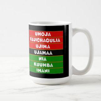 Den Kwanzaa för 7 principer muggen Kaffemugg