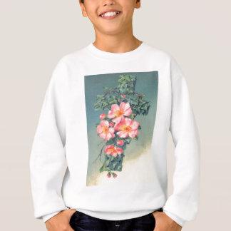 Den kyrkliga Vinesrosan blommar kristna löv Tröjor