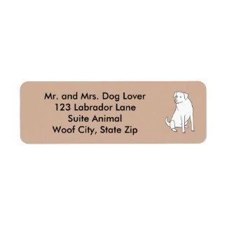 Den Labrador hunden skisserar Returadress Etikett