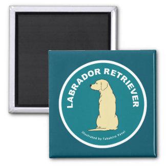 Den Labrador retrieveren kvadrerar magneten Magnet