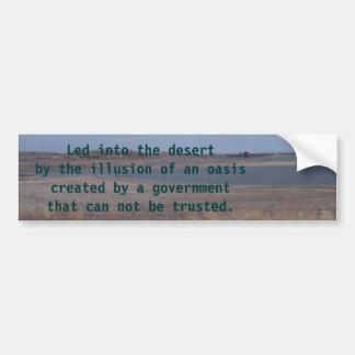 den lahontan sjön, ledde in i öknen vid illusen… bildekal