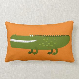 Den långa alligatorn kudder lumbarkudde