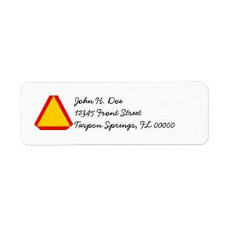Den långsamma flyttan undertecknar snigeln postar returadress etikett