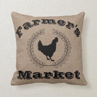 Den lantliga bonden marknadsför svart lagrar & kudde