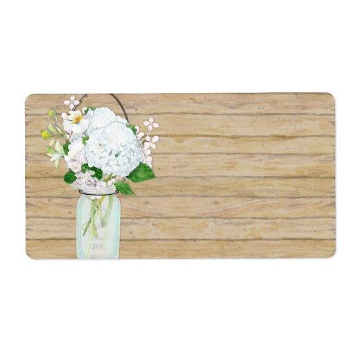 Den lantliga landMasonburken blommar vitvanlig hor Fraktsedel