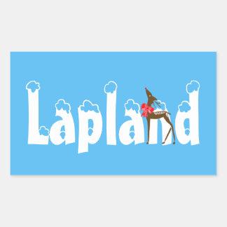 Den Lapland renen reser klistermärken för