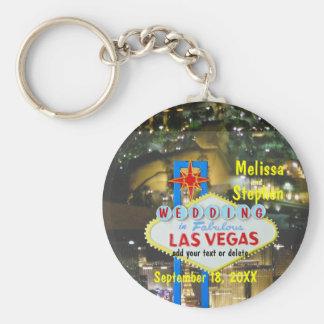 Den Las Vegas bröllopremsan beskådar Rund Nyckelring